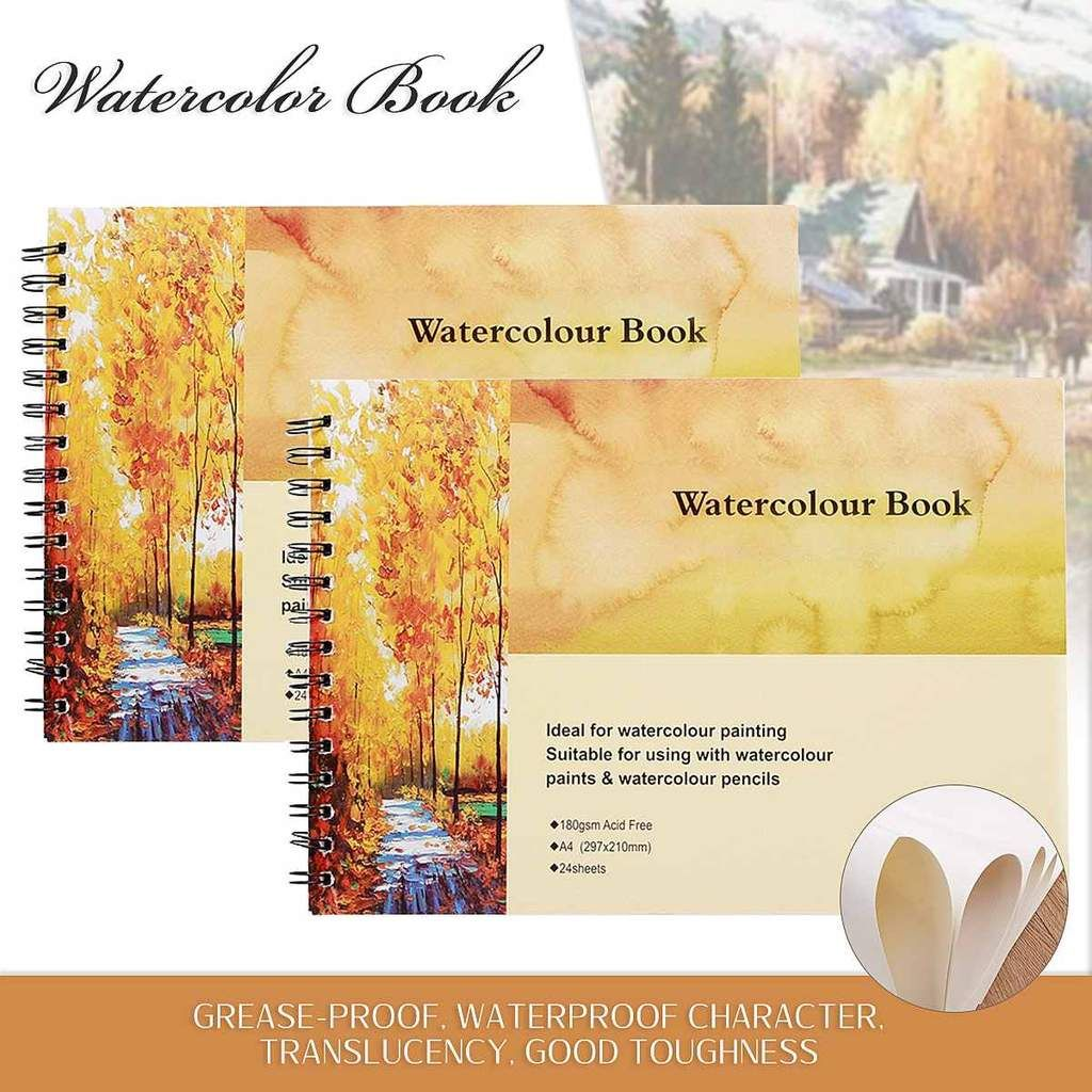 Hot New A4 Watercolor Book Art Artist Sketchbook Sketch Pad