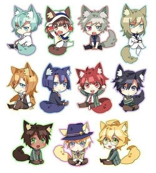 Starish & Quartet Night Chibi Fox Version _ Uta No Prince Sama