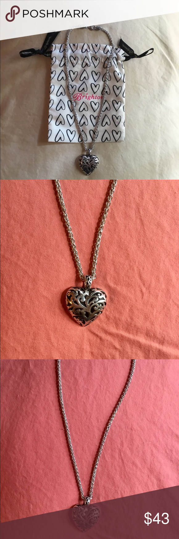 Like New--Gorgeous BRIGHTON Big Heart Necklace❤ | Brighton ...