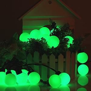 Preview Bzone Waterproof Decorative Globe Christmas Lights Green 20 Led 15 5ft Fairy String Light Rope Lights For Outdoor By Thekeeping Lights String Li