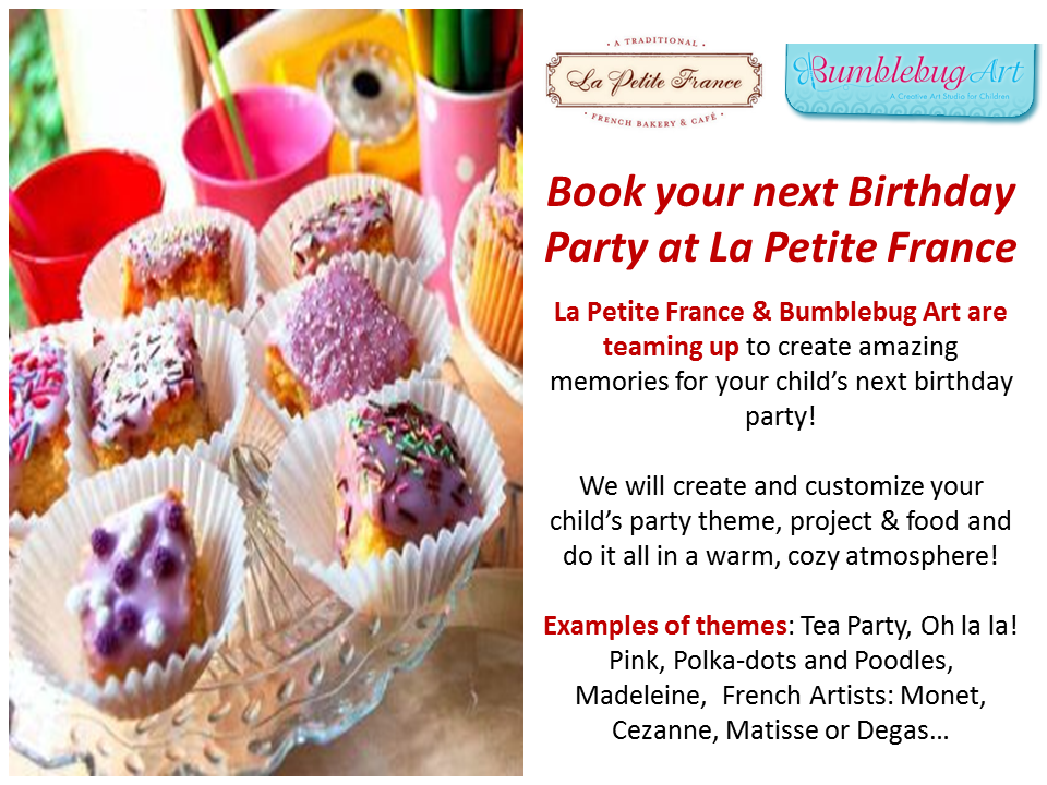Children's birthday parties can be booked @ the cafe