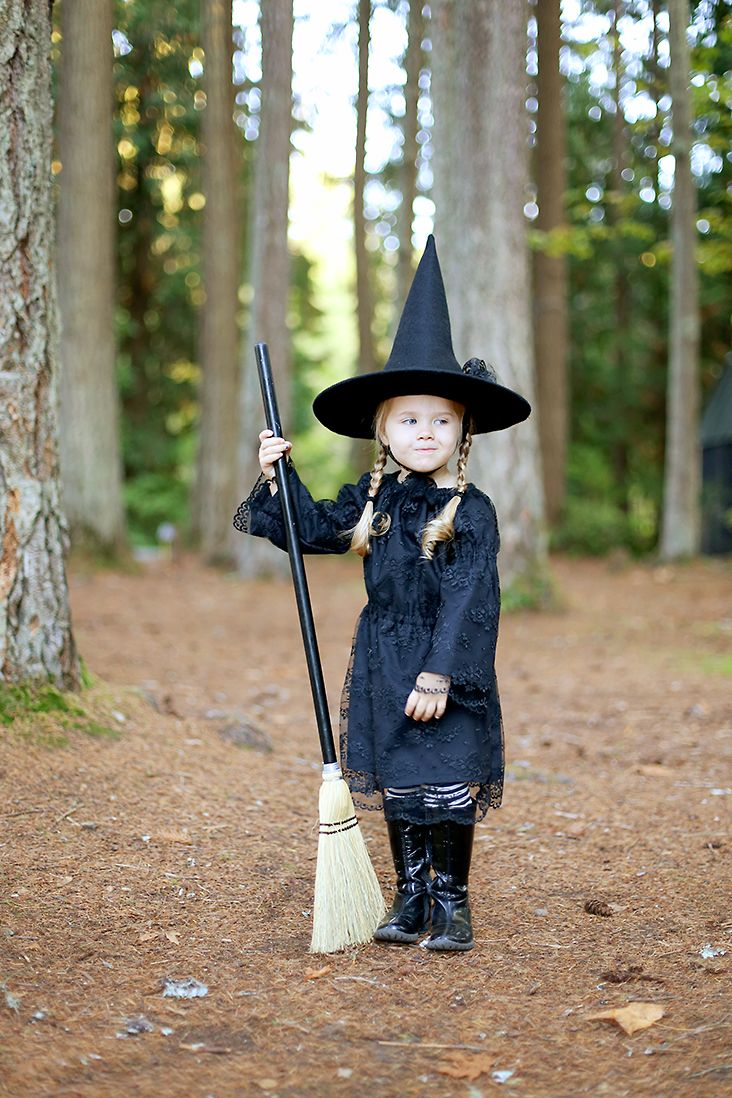 Free Witch Hat Pattern + DIY Witch Costume (With images