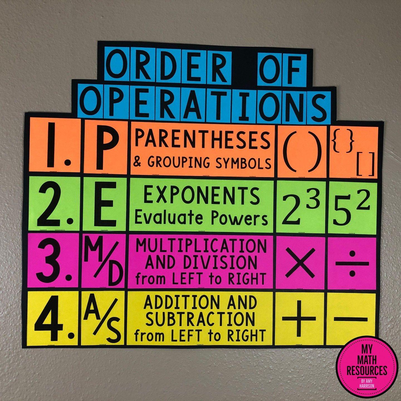 PEMDAS Order of Operations Poster, Bulletin Board & Anchor