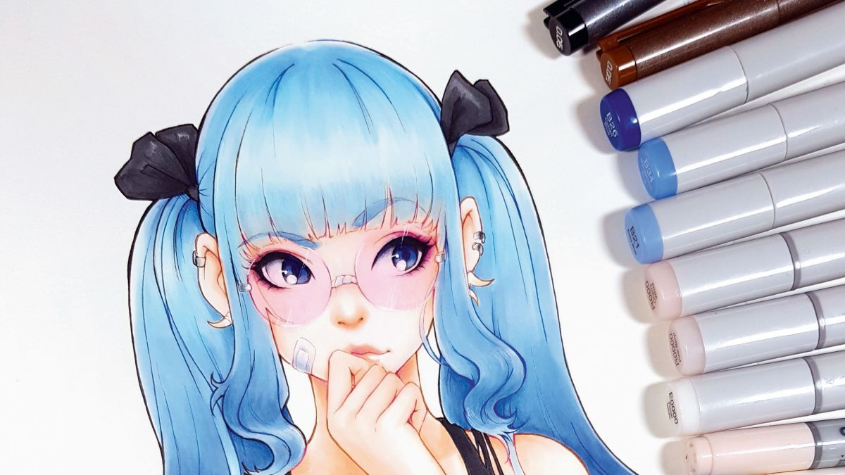 Create A Character Using Copic Markers Copic Marker Art Copic