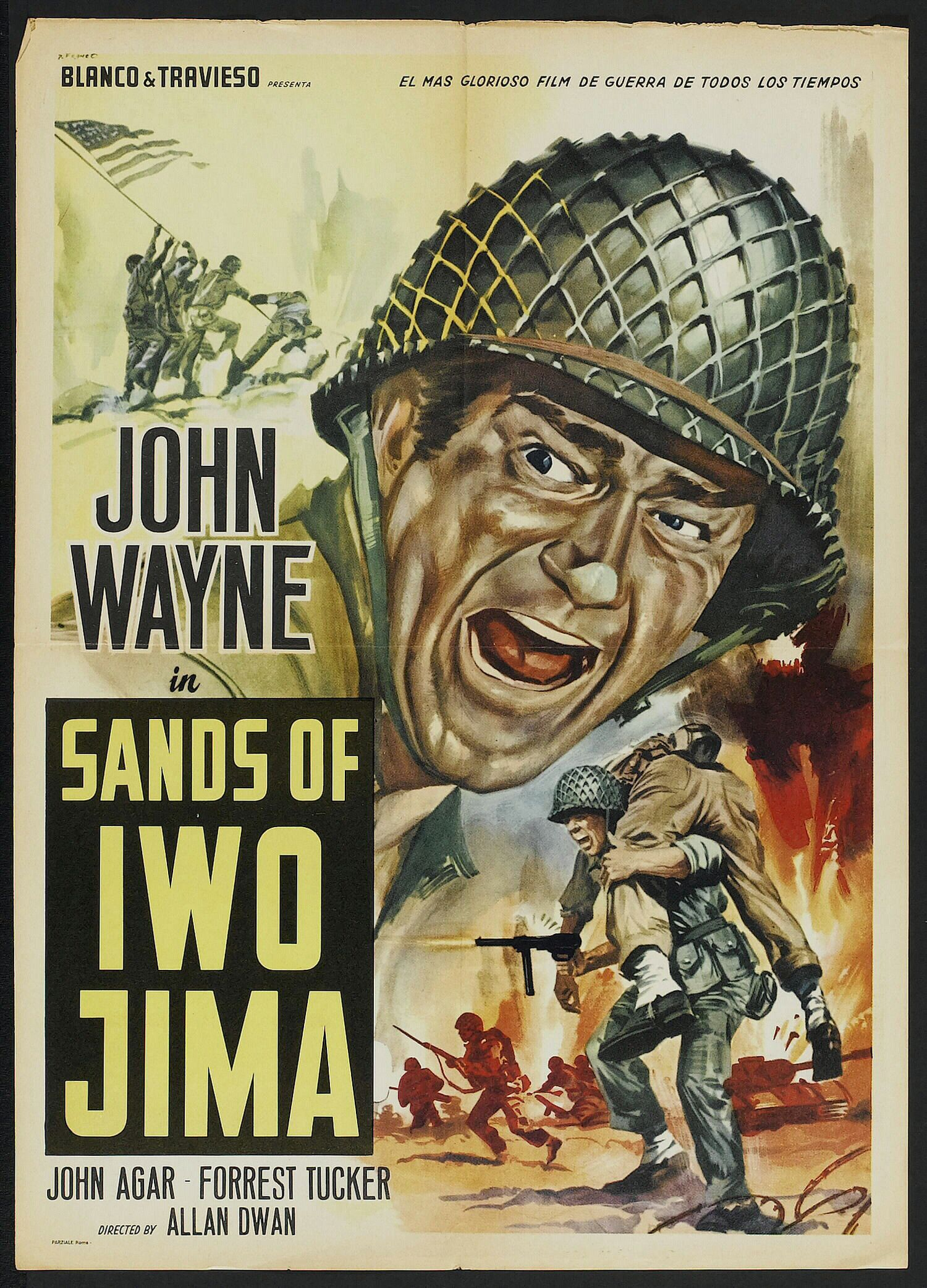 Republic Posters 1949 Sands Of Iwo Jima 1949 Old Movie
