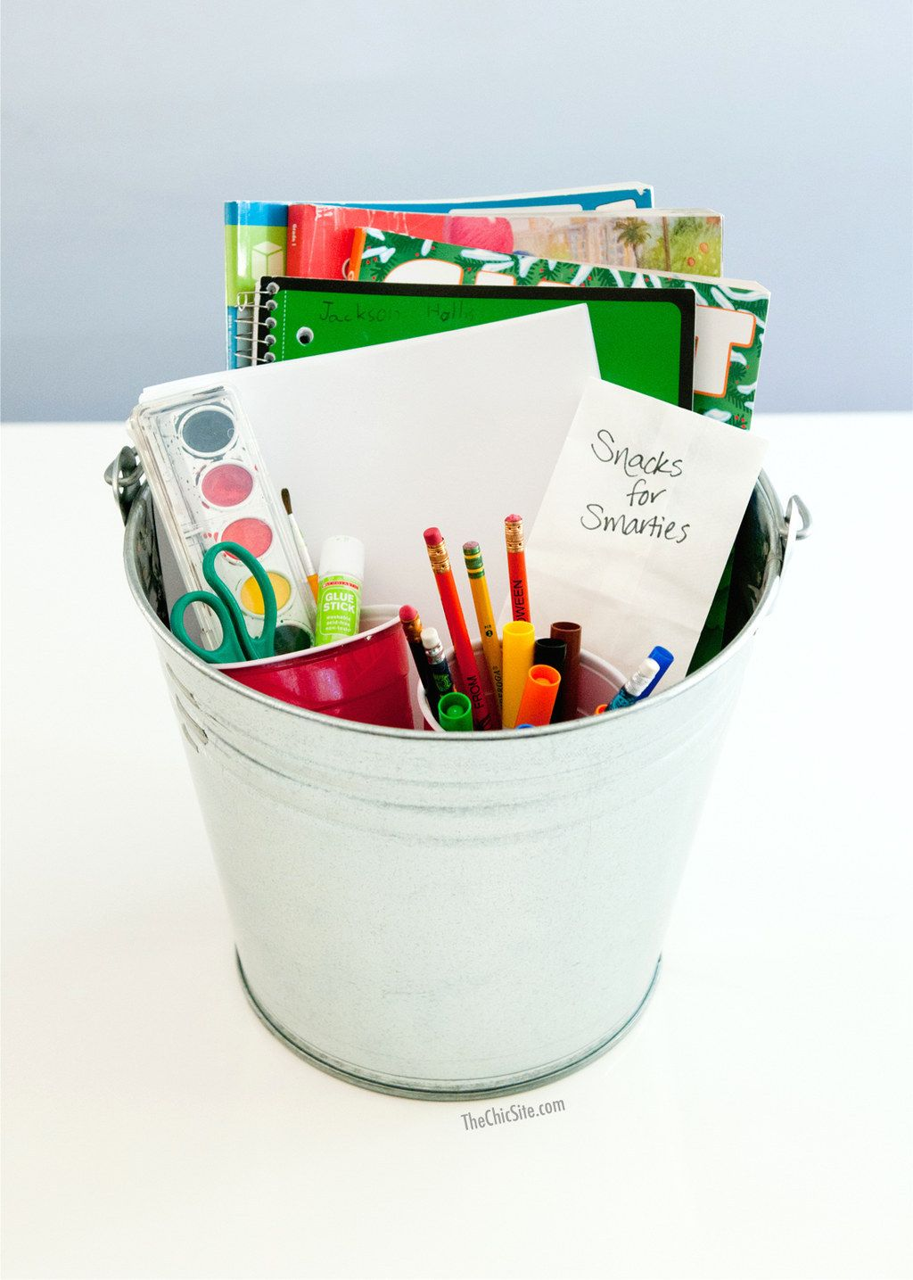 Put Together A Homework Bucket With Everything Your