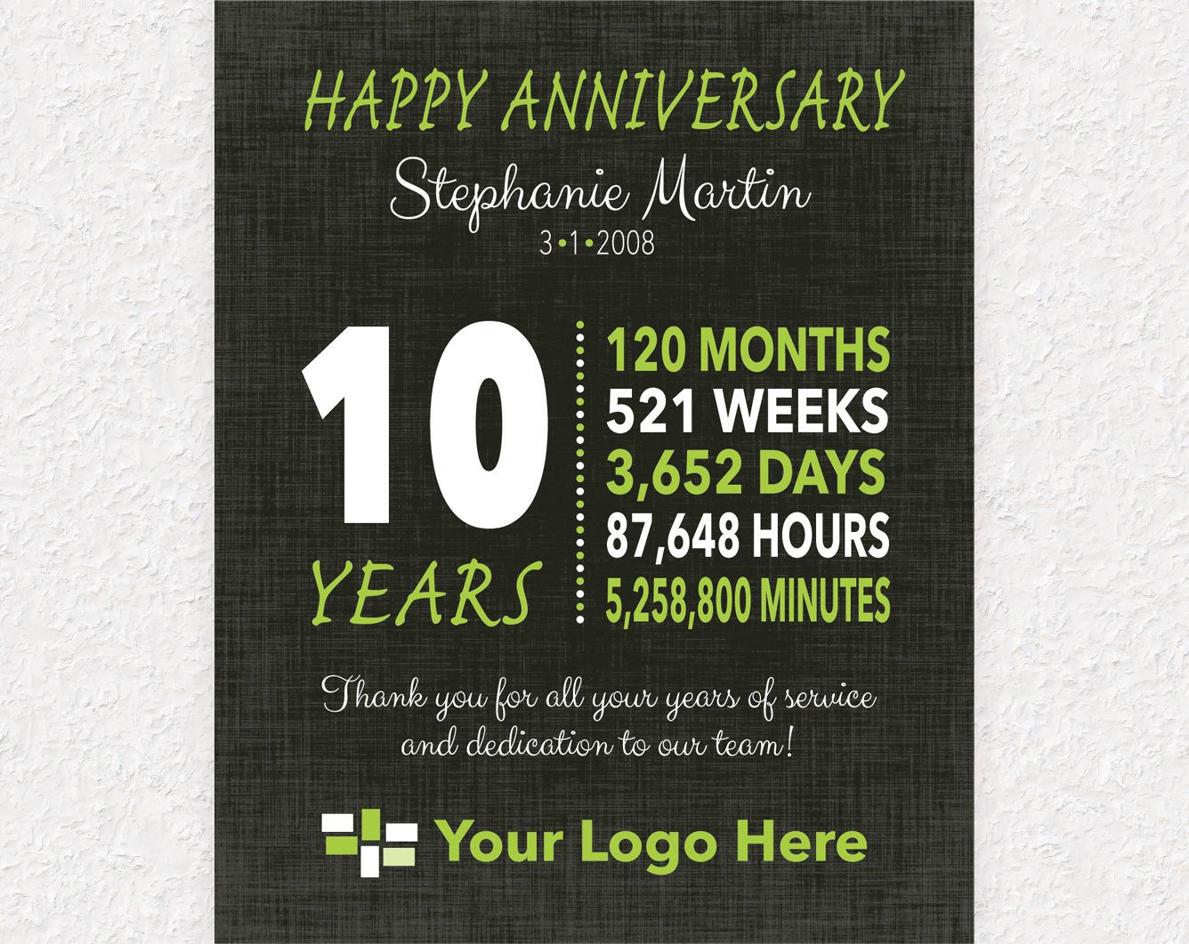 10 Year Work Anniversary Gift Service Award Plaque Employee Etsy Work Anniversary Gifts Work Anniversary Employee Appreciation Gifts