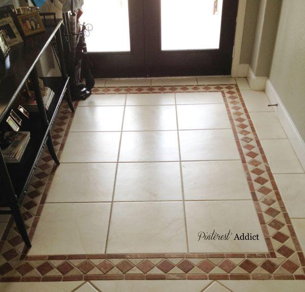 Painting Floor Tile Entryway Flooring Tile Floor