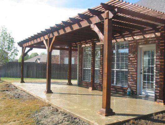 Nice patio covers match pergola tuin