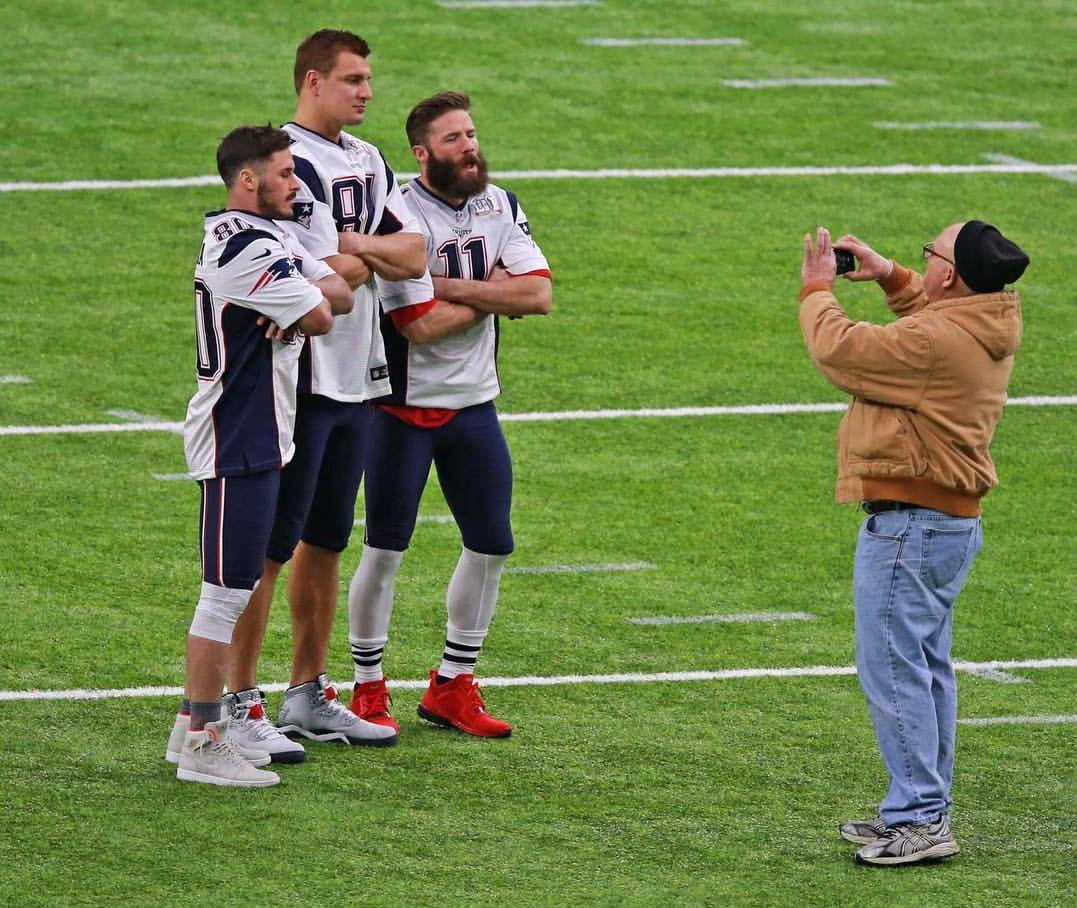 Danny Amendola Rob Gronkowski And Julian Edelman Edelman Patriots Julian Edelman New England Patriots Football