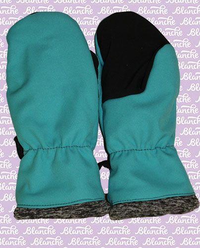 Softshellové rukavice zateplené -tyrkysové