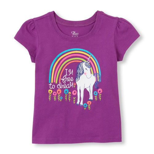 Inspire your little girl to dream with this vibrant tee!