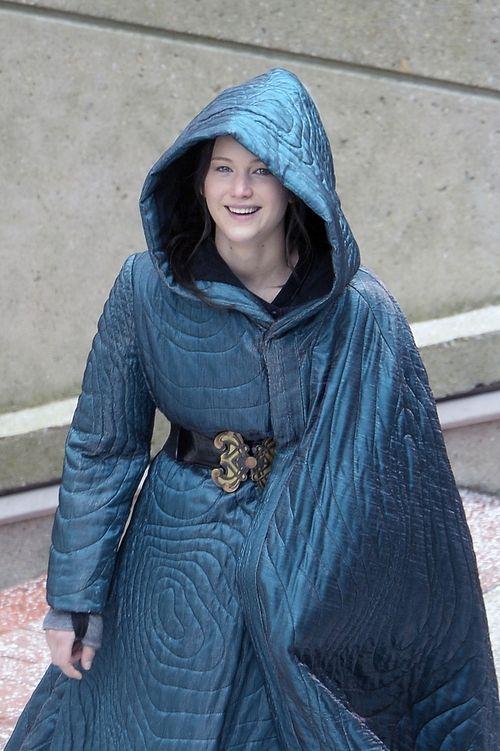 Custom Made Hooded Cape Coat Katniss Everdeen By Kurt And Bart Costume Designer In The Hunger Games Mockingjay