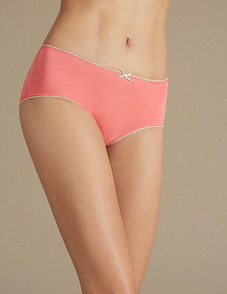 87462e1a8ac839 Marks and Spencer 5 Pack Cotton Rich Midi Knickers | Products ...
