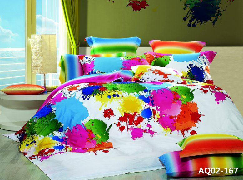 New Double Size Graffiti Art Quilt/Duvet/Comforter Cover Bedding Set ...