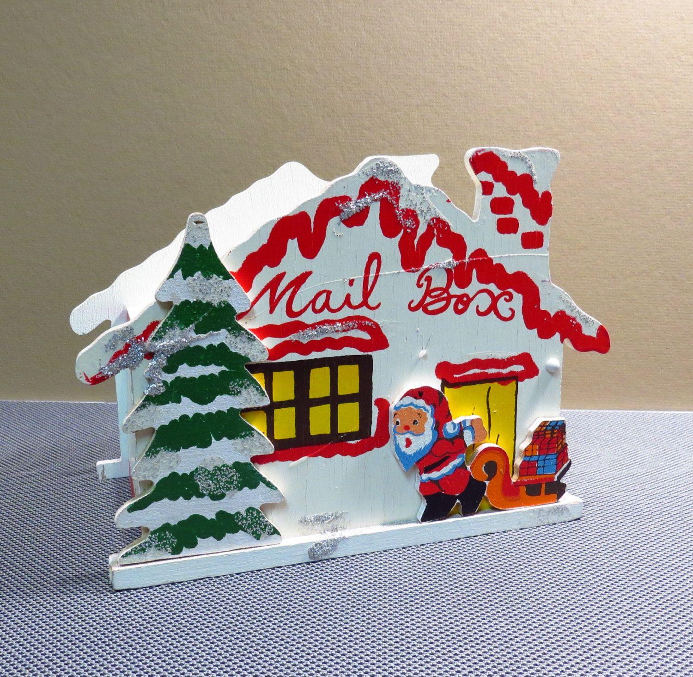 Santa Christmas Mail Box Vintage 1950s 1960s Folding Kitschy ...