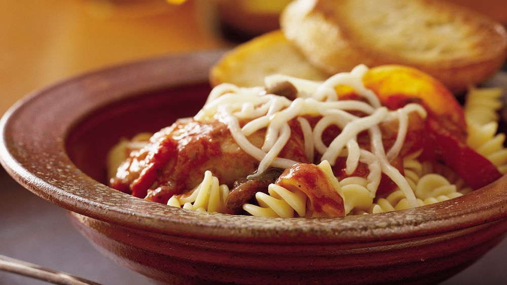 Bring the fantastic flavor of pizza to a pleasing pasta casserole!