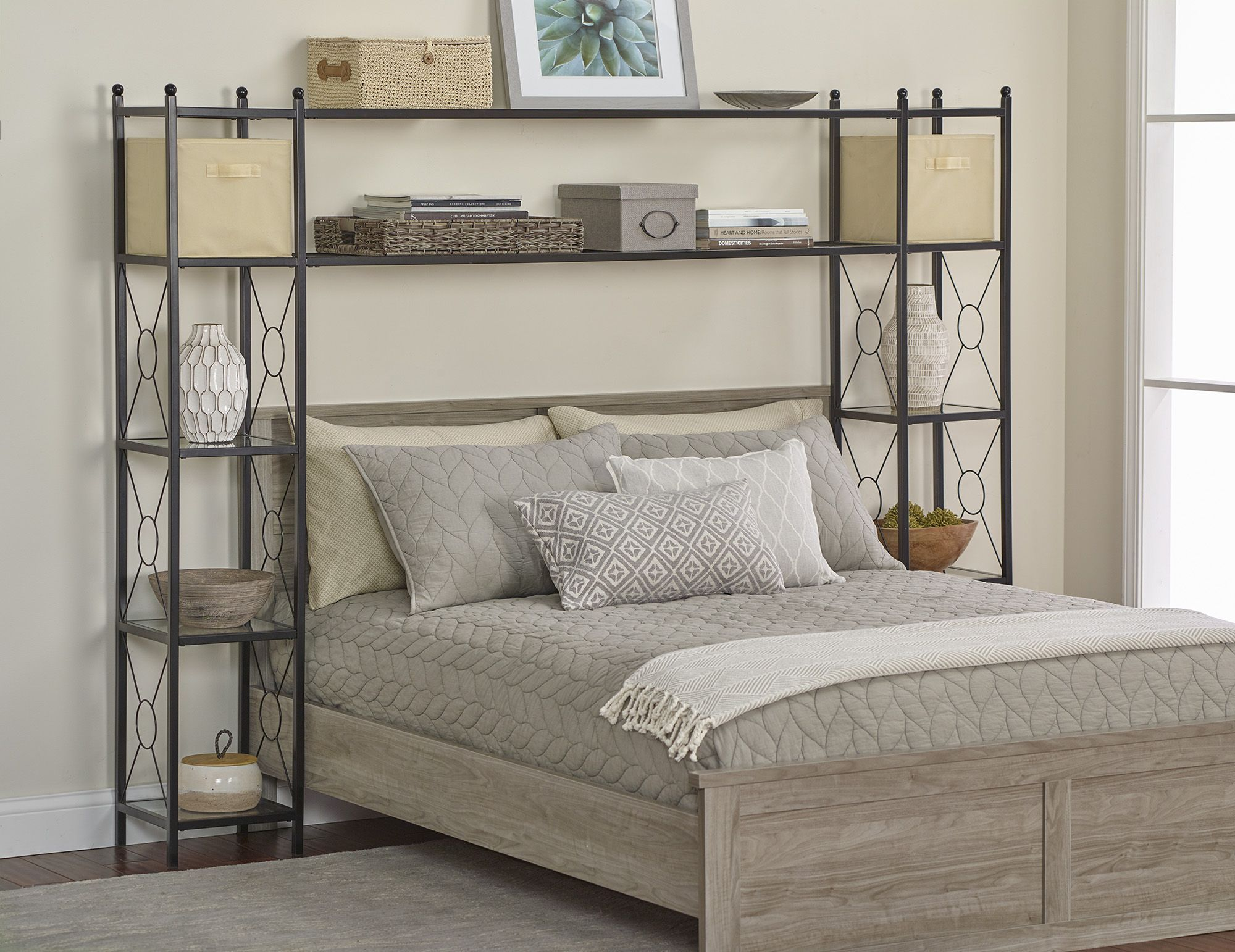 Fingerhut alcove OvertheBed Metal Organizer with