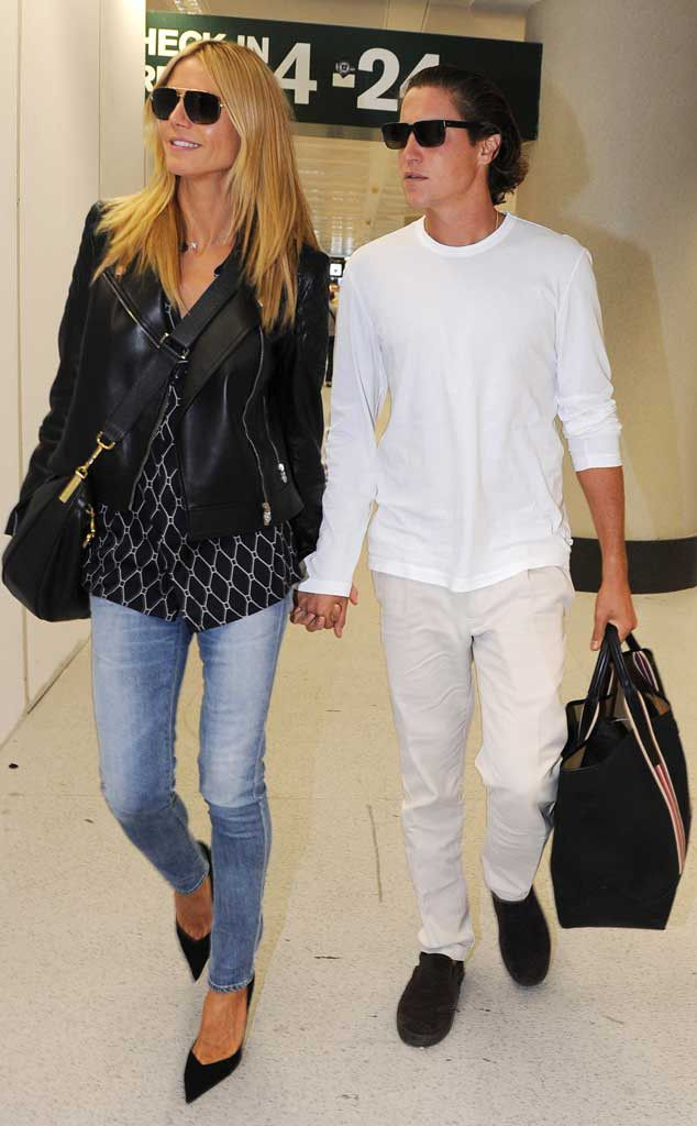 Heidi Klum & Vito Schnabel from The Big Picture: Today's Hot Pics After attending the amFAR gala in Italy, the Project Runway host meets up with her boyfriend.