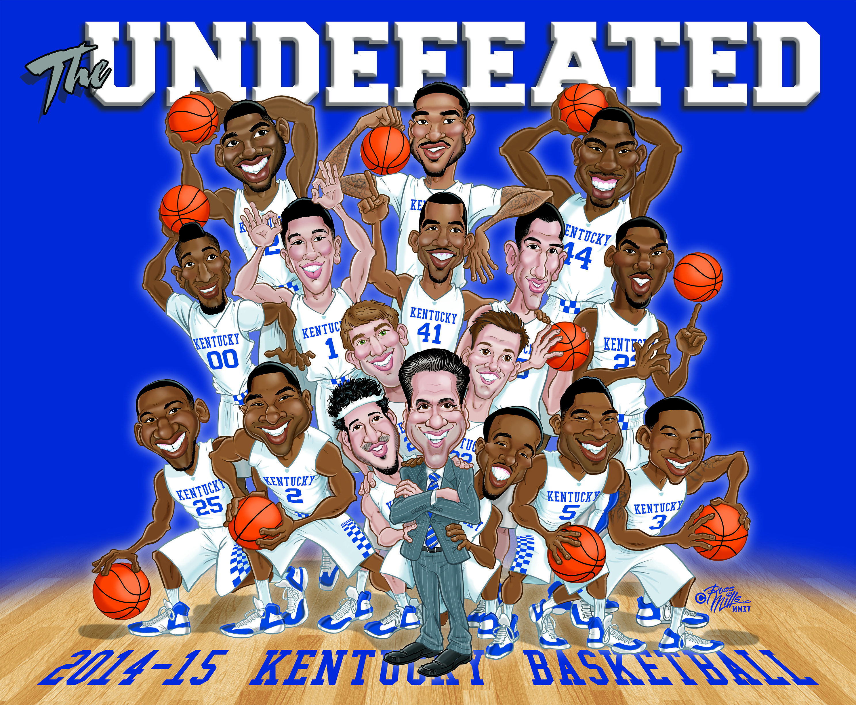 "New Kentucky Basketball ""The UNDEFEATED"" 2014-15 Team ..."