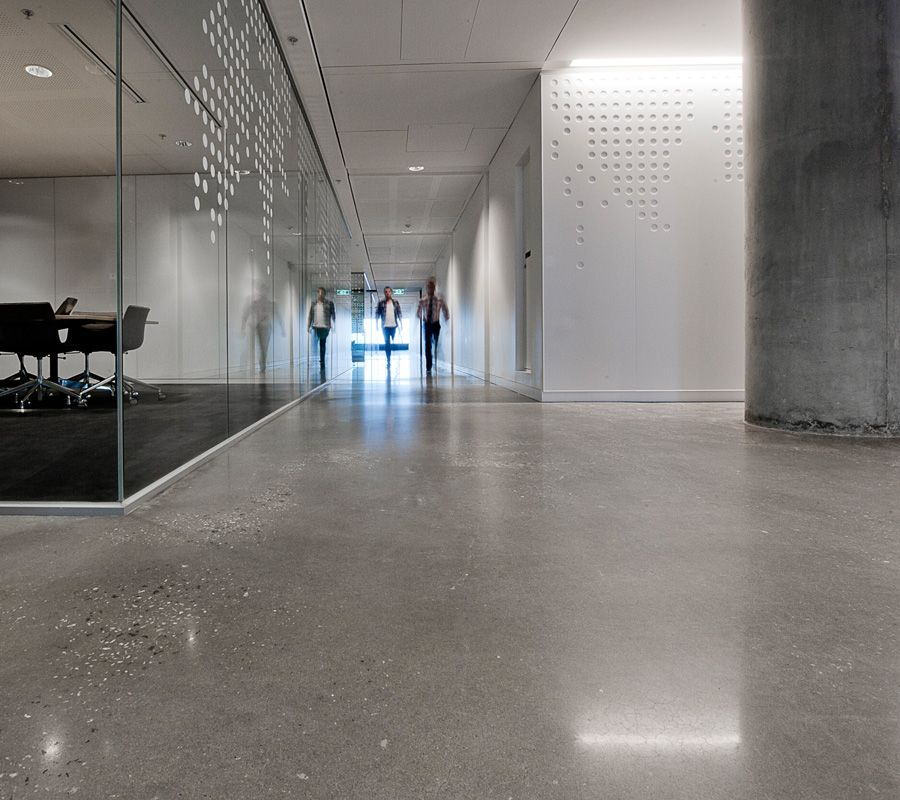 Myer Head Office Polished Concrete Flooring Car Showroom