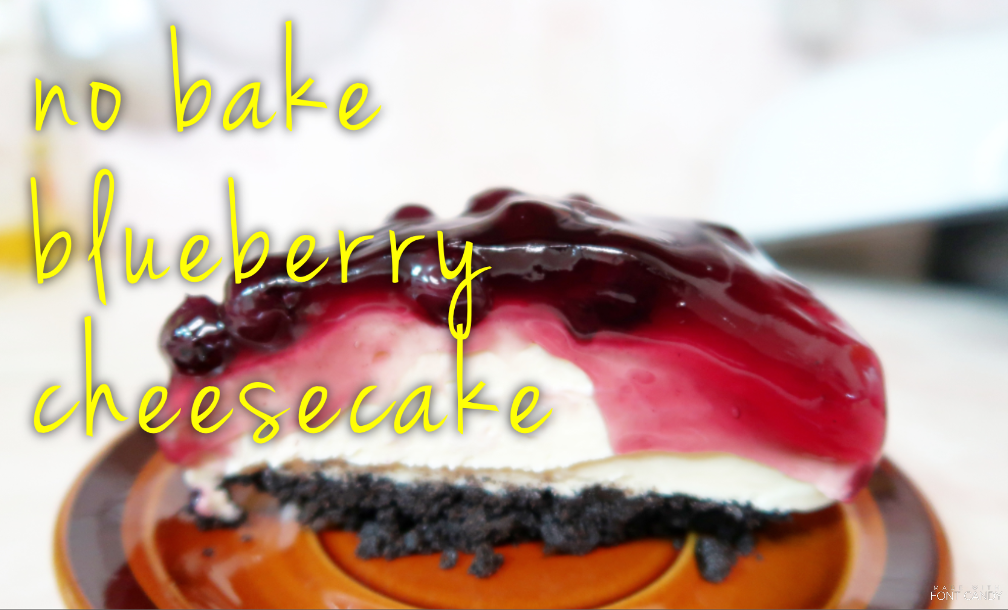 No Bake Blueberry Cheesecake Easy and Delicious Recipe