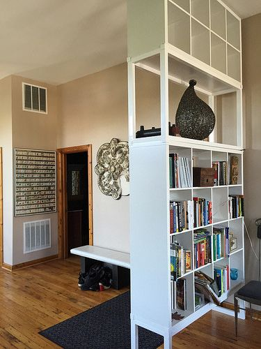 My Ikea Hack Kallax Reinvented As A Floor To Ceiling Bookshelf Room Divider Office Dividers
