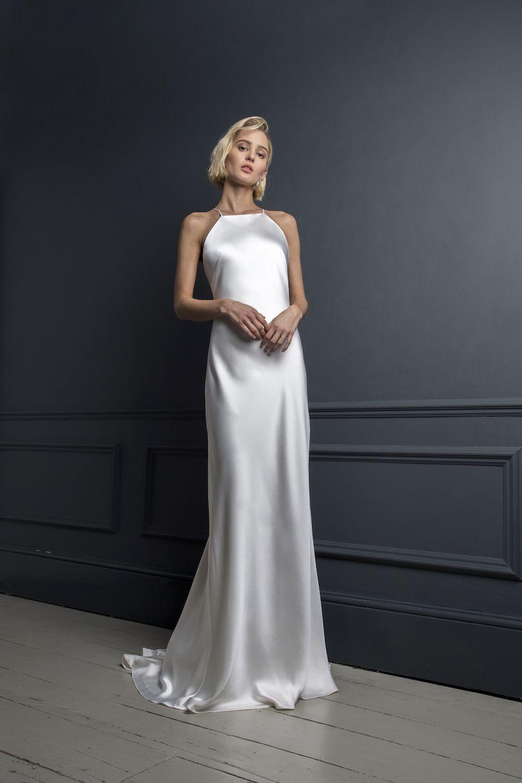 Max Plain Wedding Dress Wedding Dresses Minimalist Wedding Dresses
