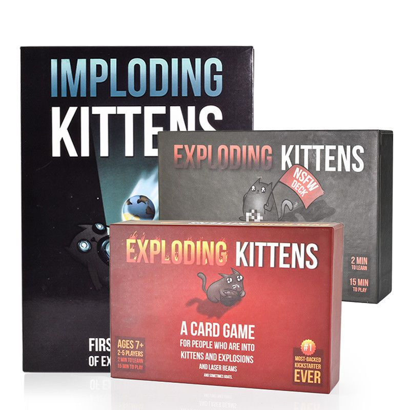 Details About Exploding Kittens Game Card For Family Friends Party Game Gift Card Gift Exploding Kittens Card Game Exploding Kittens Card Games