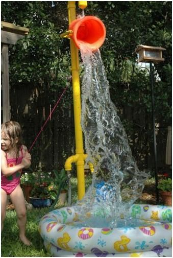 Backyard Sprinkler Park | Backyard water parks, Kids ...