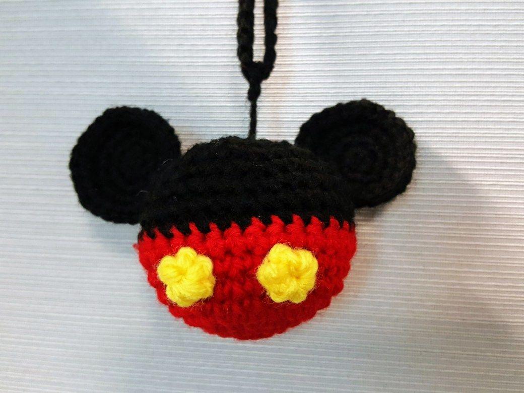 Free Amigurumi Disney Patterns : Mickey mouse ornament free crochet pattern at sketchy honu