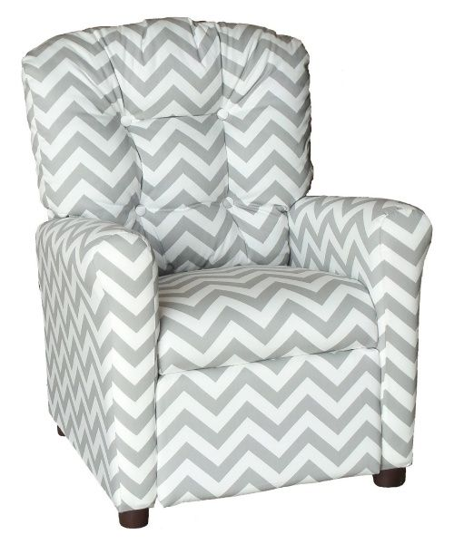 Attirant Brazil Furniture 4 Button Back Childrens Recliner   Zig Zag Pattern   Kids  Upholstered Chairs At Hayneedle