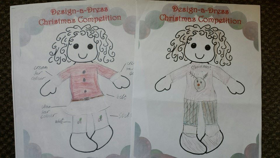 Design-a-Dress Competition with Ruthie & Co, The Rag Doll Shop www.dressadoll.co.uk