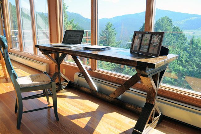 rustic office desk vintage build rustic deck for just 60 worth of wood how to rustic desk offices pinterest desk