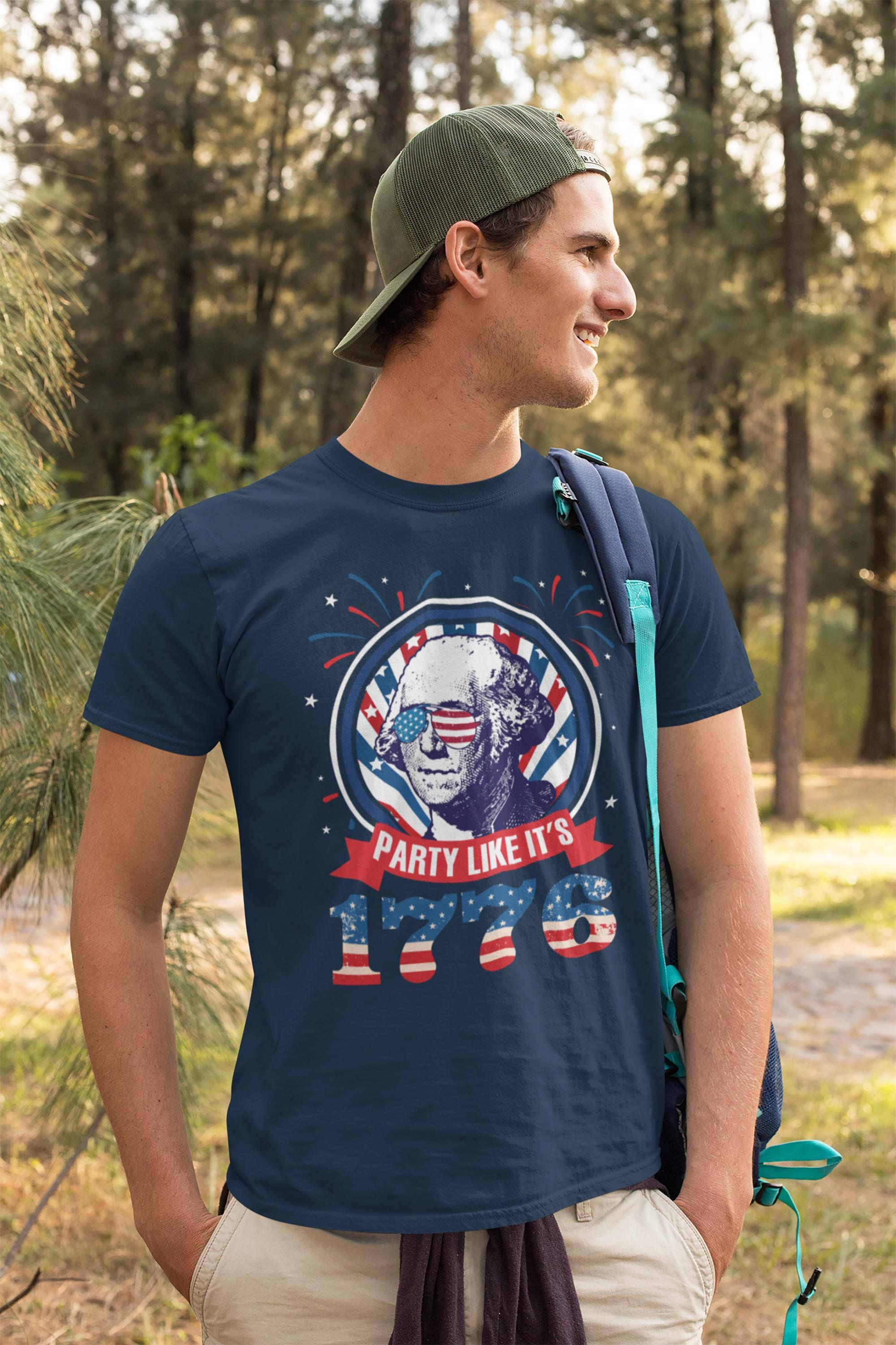 Illustrated Electric Guitars T-Shirt Hooded with A Pocket Rope Hat Customization Fashion Novelty 3D Mens