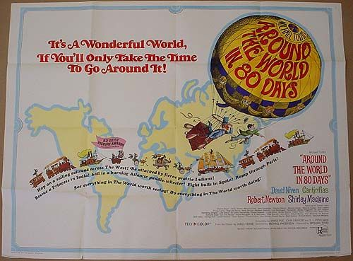 AROUND THE WORLD IN 80 DAYS POSTER   Movie Posters   Pinterest ...