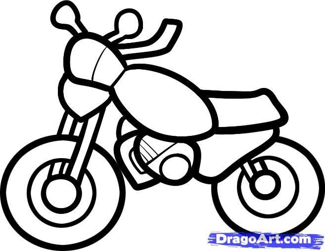 bike drawing - Simple Sketch For Kids