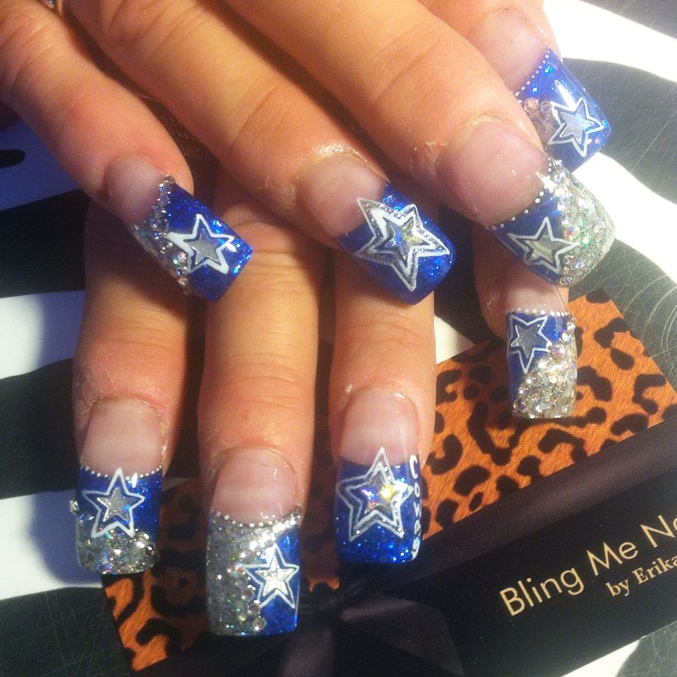Dallas cowboys nails! IG: blingmenails | Nails… | Pinterest | Dallas ...
