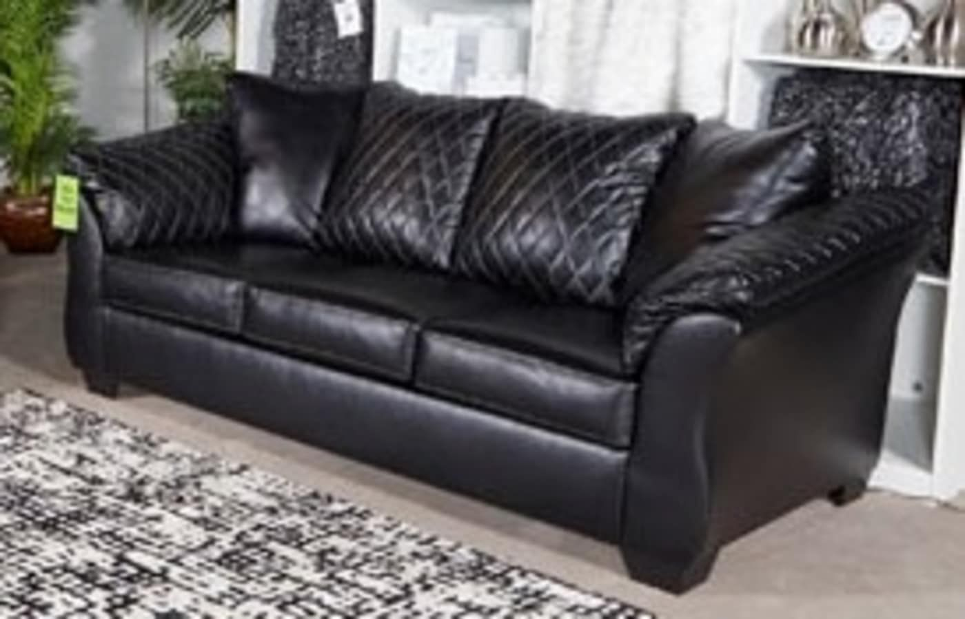 Best Signature Design By Ashley Betrillo Black Sofa Reviews Goedekers Com With Images Black 400 x 300