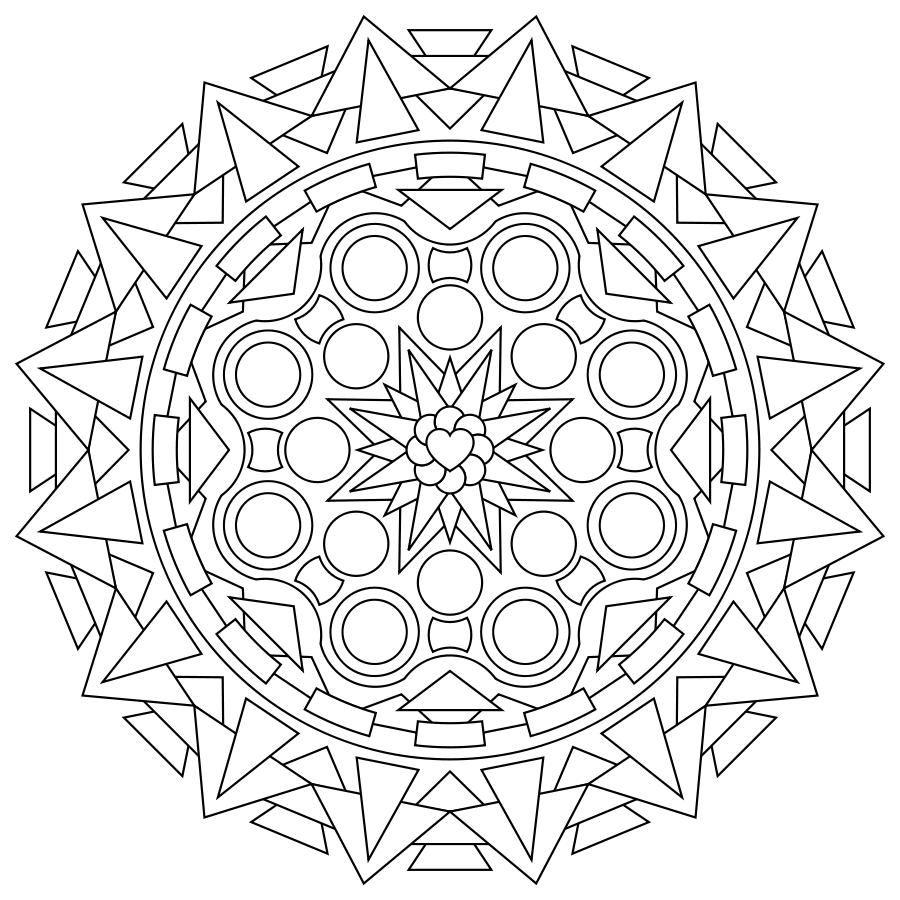 33+ Coloring pages online mandala ideas