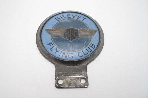 Details about VINTAGE CAR BADGE MASCOT BREVET FLYING CLUB