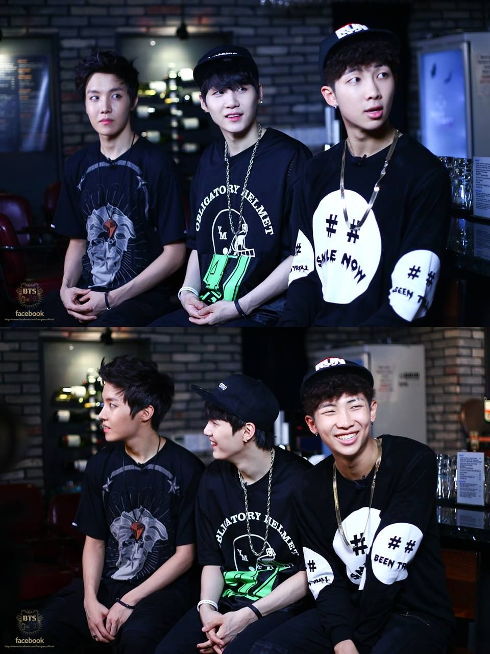 J-Hope, Suga & Rap Monster, BTS' official facebook update