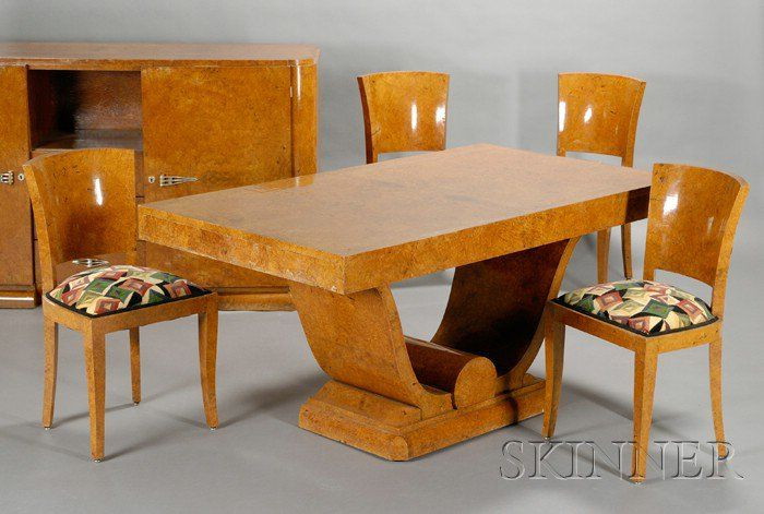Art Deco Dining Table Six Chairs And Sideboard Art Deco