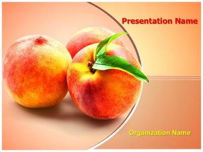 Peach fruit powerpoint template is one of the best powerpoint peach fruit powerpoint template is one of the best powerpoint templates by editabletemplates toneelgroepblik Images