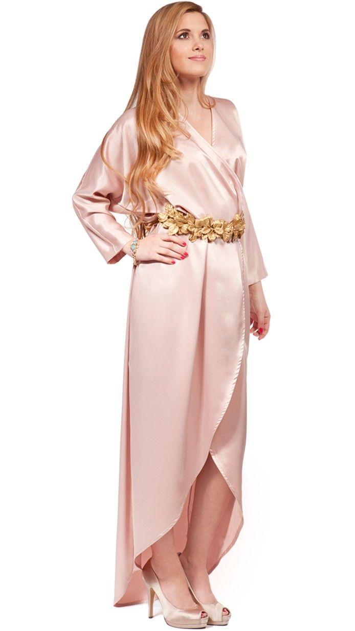 DRESSEOS - Vestido batín en rosa metalizado Muy cómodo y elegante ...