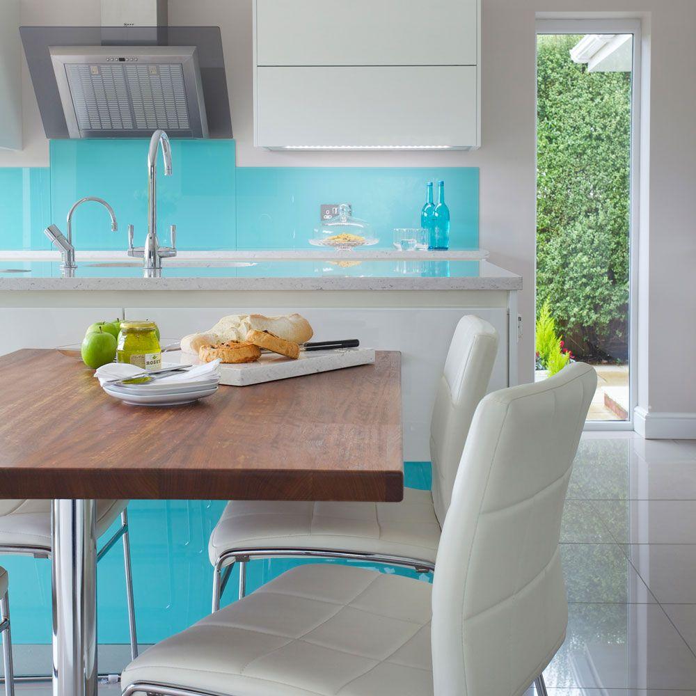 Kitchen splashbacks | Backsplash | Kitchen design, Glass kitchen
