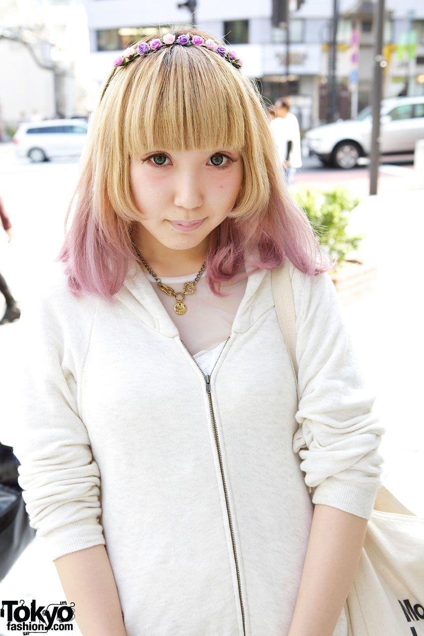 Cute pinktipped hair in harajuku hairstyles u colors pinterest