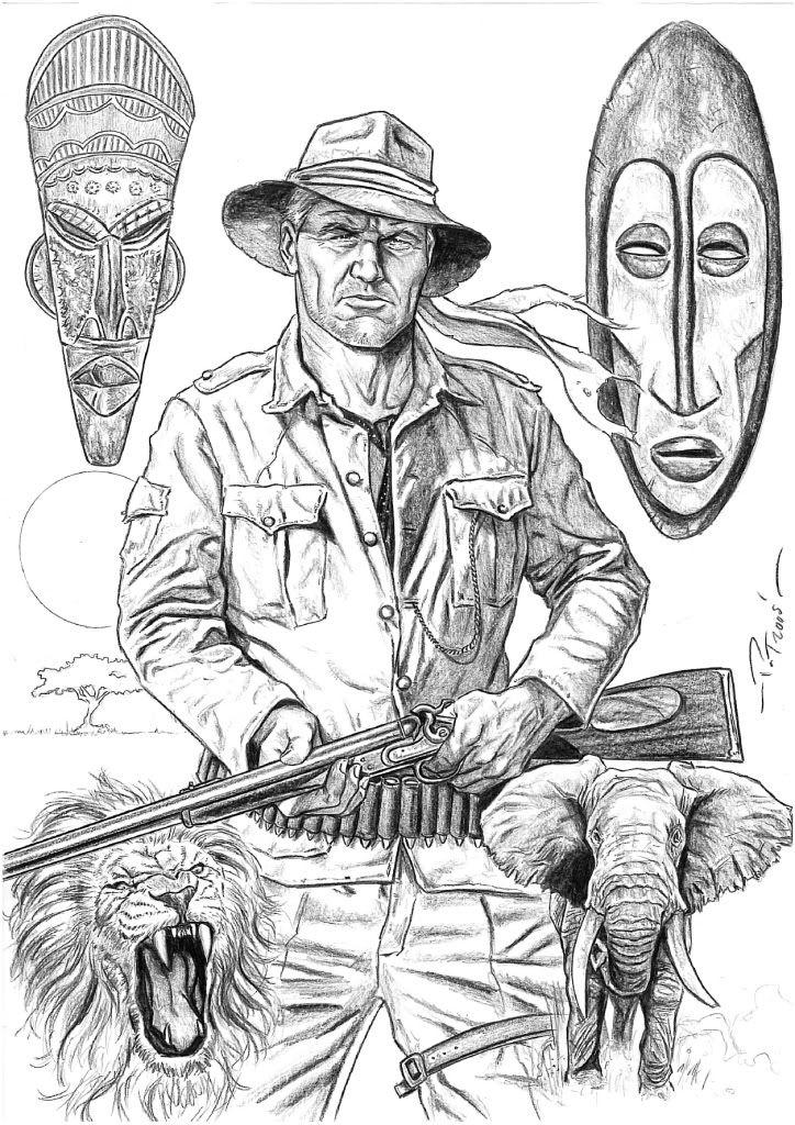 Allen Quartermain   Adventure art, Animation sketches ...