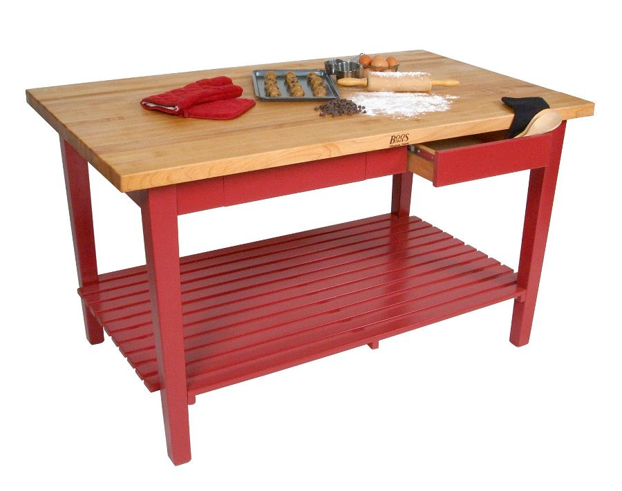 kitchen boos classic country work table with maple butcher block rh pinterest com Antique Butcher Block Prep Table Butcher Block Island Table