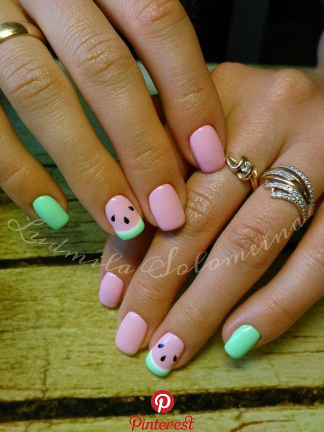 Pin By Nora Feyer On Nails In 2019 Pinterest Summer Nails Acrylic Nails And Nail Designs Pin By Nora Watermelon Nails Watermelon Nail Art Nails For Kids